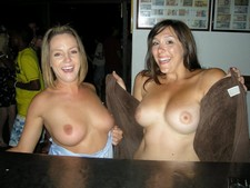 Seeing double at the bar.