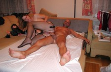 Horny wife gets pussy..