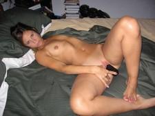 Cute wife masturbates..