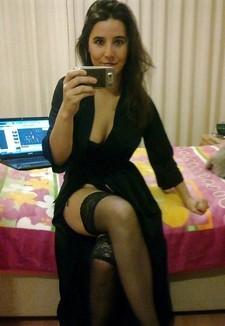 Hot brunette mature in..