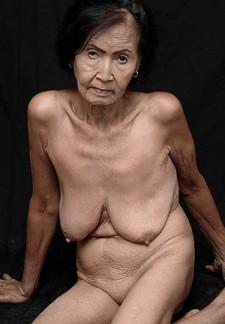 Elder woman shows her..