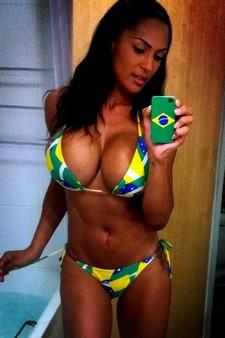 Hot brasilian selfie in..