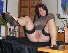 Sexy brunette spreading..