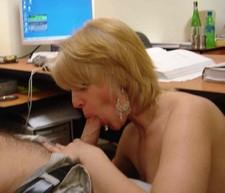Blowjob in office -..