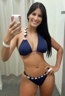 Sweet hot brunette in..