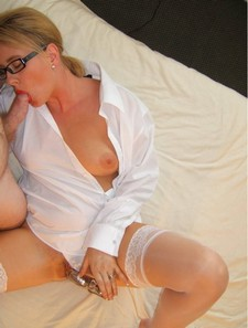Beautiful blonde wife in..