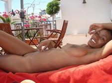 Sexy black stripper girl..