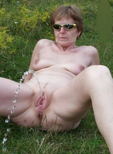 Milf and Mature outdoor..
