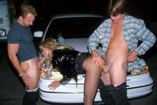 Truck stop threesome