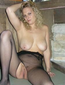 Hot blonde wife in..