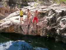 Public nude, nudist river