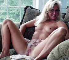 Blonde milf with small..