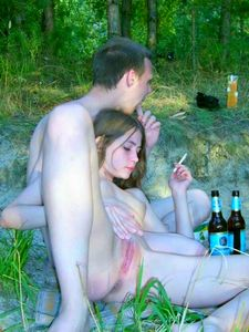 Drunk european couple on..