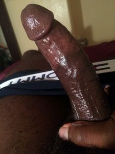 Huge black cock in hand