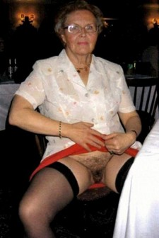 Filthy granny shows her..